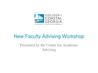 New Faculty Advising Workshop