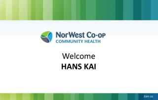 Welcome  HANS KAI