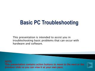 Basic PC Troubleshooting