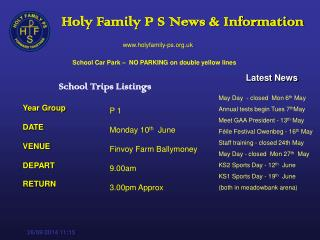 P 1 Monday 10 th   June Finvoy Farm Ballymoney 9.00am   3.00pm Approx
