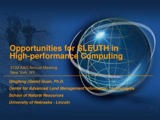 Opportunities for SLEUTH in High-performance Computing