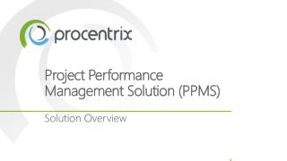 Project Performance Management Solution (PPMS)