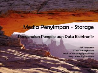 Media  Penyimpan  - Storage
