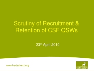 Successful Recruitment and Induction