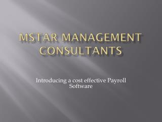 Mstar  management consultants