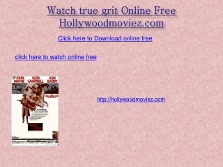 Watch true grit Online Free