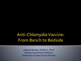 Anti- Chlamydia  Vaccine: From Bench to Bedside