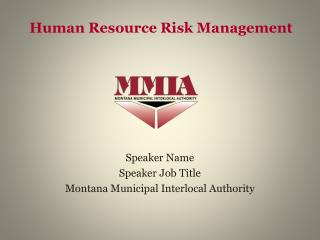 Human Resource Risk Management