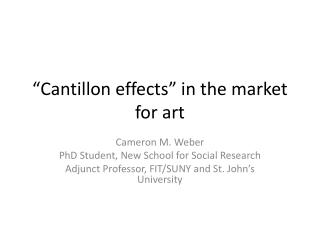 """Cantillon effects"" in the market for art"