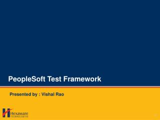 PeopleSoft Test Framework