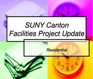 SUNY Canton Facilities Project Update