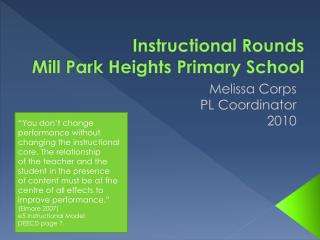Instructional Rounds Mill Park Heights Primary School