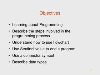An Overview of Programming  Logic and Design