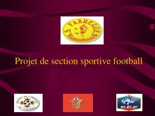 Projet de section sportive football