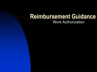 Reimbursement Guidance
