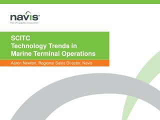 SCITC Technology Trends in  Marine Terminal Operations