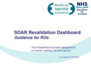 SOAR Revalidation Dashboard Guidance for ROs