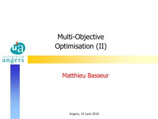 Multi-Objective  Optimisation (II)