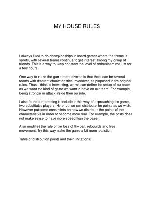 PPT - MY HOUSE RULES PowerPoint Presentation - ID:4829614