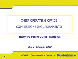 CHIEF OPERATING OFFICE COMMISSIONE INQUADRAMENTO