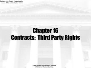 Chapter 16 Contracts:  Third Party Rights