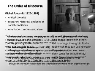 The Order of Discourse