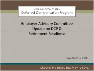 – WASHINGTON STATE – Deferred Compensation Program
