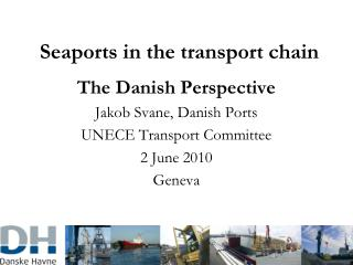 Seaports in the transport chain
