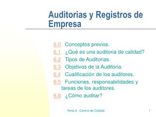 Auditorias y Registros de Empresa