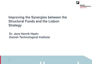 Improving the Synergies between the Structural Funds and the Lisbon Strategy