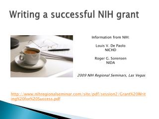 Writing a successful NIH grant