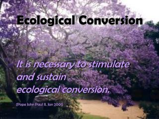 Ecological Conversion