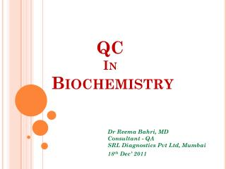 QC  In  Biochemistry