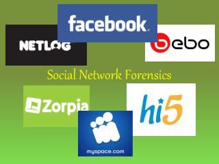 Social Network Forensics