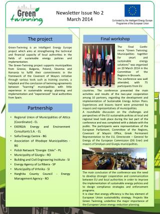 Newsletter Issue No 2 March 2014