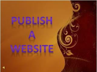 Publish A Website