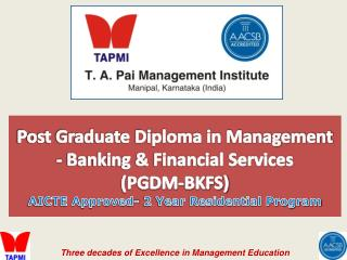 Post Graduate Diploma in Management - Banking & Financial Services  (PGDM-BKFS)