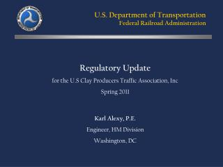 U.S. Department of Transportation Federal Railroad Administration