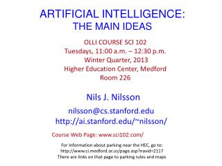 ARTIFICIAL INTELLIGENCE: THE MAIN IDEAS