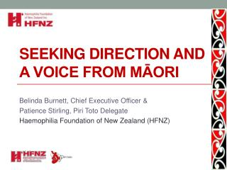 Seeking direction and a voice from M?ori