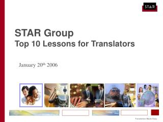 STAR Group Top 10 Lessons for Translators