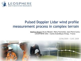 Pulsed Doppler  Lidar  wind profile measurement process in complex terrain