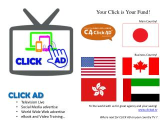 CLICK AD Television Live Social Media advertise World Wide Web advertise eBook and Video Training…