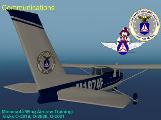 Minnesota Wing Aircrew Training:  Tasks O-2019, O-2020, O-2021