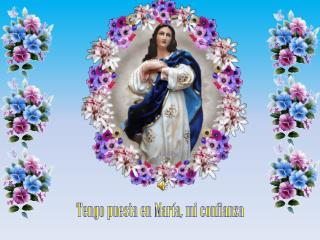 Tengo puesta en María, mi confianza