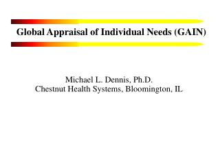 Global Appraisal of Individual Needs (GAIN)