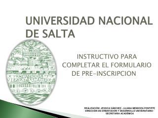 UNIVERSIDAD NACIONAL DE SALTA