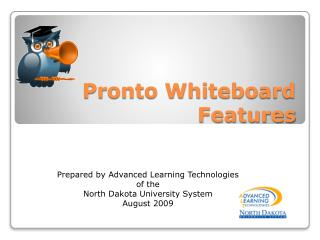 Pronto Whiteboard Features