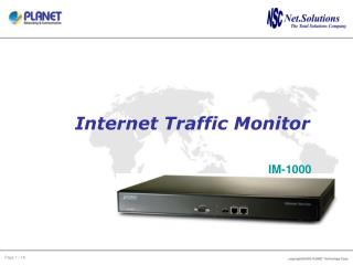 Internet Traffic Monitor