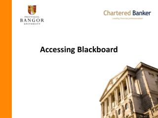 Accessing Blackboard